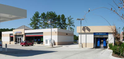 We not only build gas canopies but we also build car wash canopies. & Southwest Canopy of Texas-Car Wash